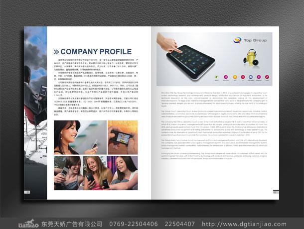 电子公司彩页模板